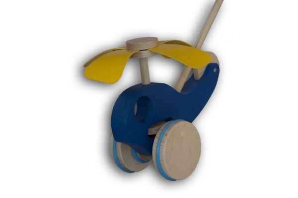 Schiebespielzeug - Hubschrauber Hubi (blau)
