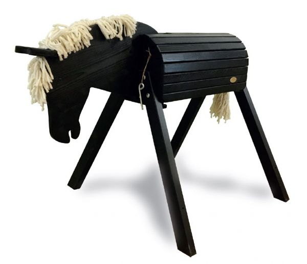 Gartenpferd Ronni, schwarz