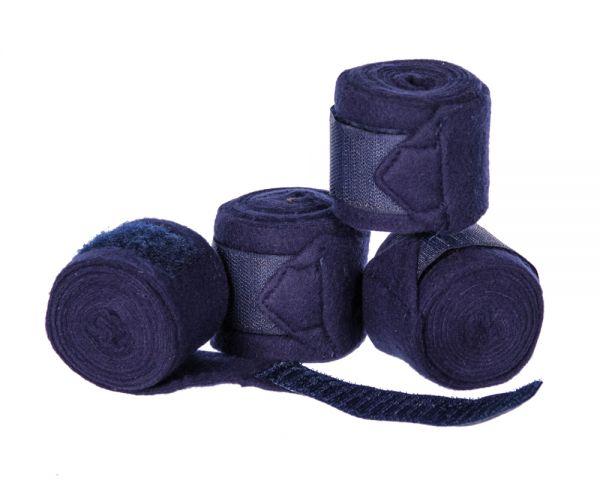 Bandagen in blau für Gartenpferde