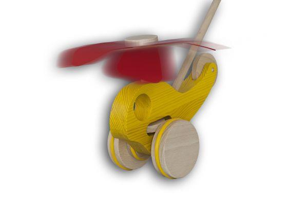 """Schiebespielzeug - Hubschrauber """"Hubi"""" (gelb)"""