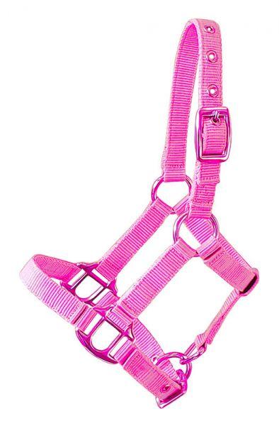 Halfter in pink für Gartenpferde